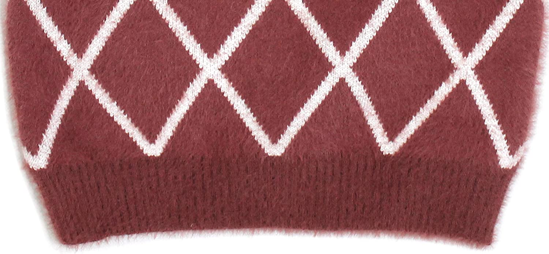 Bienzoe Little Boys Long Sleeve Crew Neck Diamond Pattern Pullover Sweater