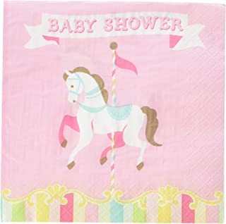 Creative Converting Carousel Luncheon Napkins Party Supplies, Multicolor