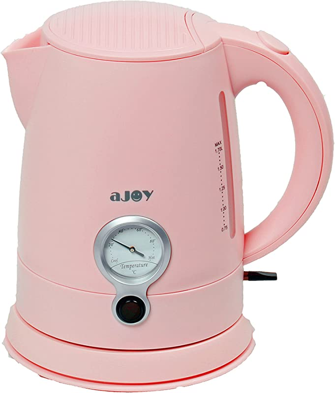 AJOY Professional Designer Series 1 7L Cordless Electric Kettle BPA Free 360 Degree Conceal Heating Element Overheat Protection Control Pink