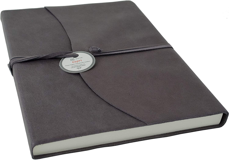 LEATHERKIND Capri Leder Notizbuch Anthrazit, A4 Liniert Seiten - - - Handgefertigt in Italien B07C3VTXMT   Kaufen Sie online  b5fd3f