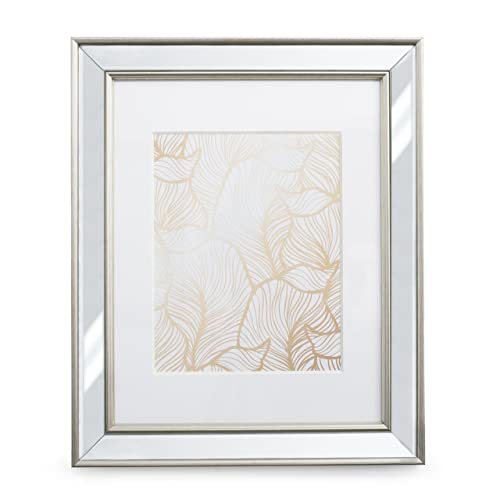 6015f149082b 11x14 Mirrored Picture Frame - Matted to 8x10
