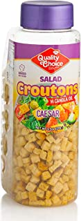 Caesar Flavored Croutons, 9.5 oz. - Soup and Salad Crunch Topping - Resealable Freshness Container, No MSG, GMO, Dairy, Ar...