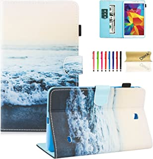 Galaxy Tab 4 8.0 inch case,T330 case, Dteck(TM) Folio Stand PU Leather Case with Auto Wake/Sleep Feature Protective Cover for Samsung Galaxy Tab 4 8.0 inch SM-T330 T331 T335 T337A Tablet,Peace Sea