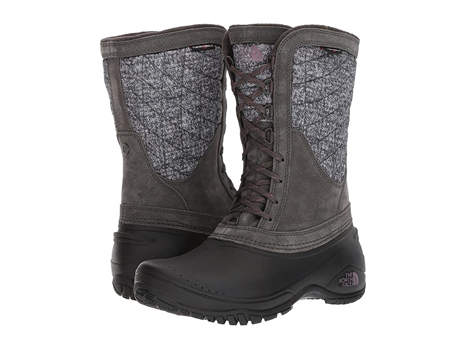 The North Face ThermoBall Utility Mid (Burnished Houndstooth Print/Black Plum (Past Season)) Women