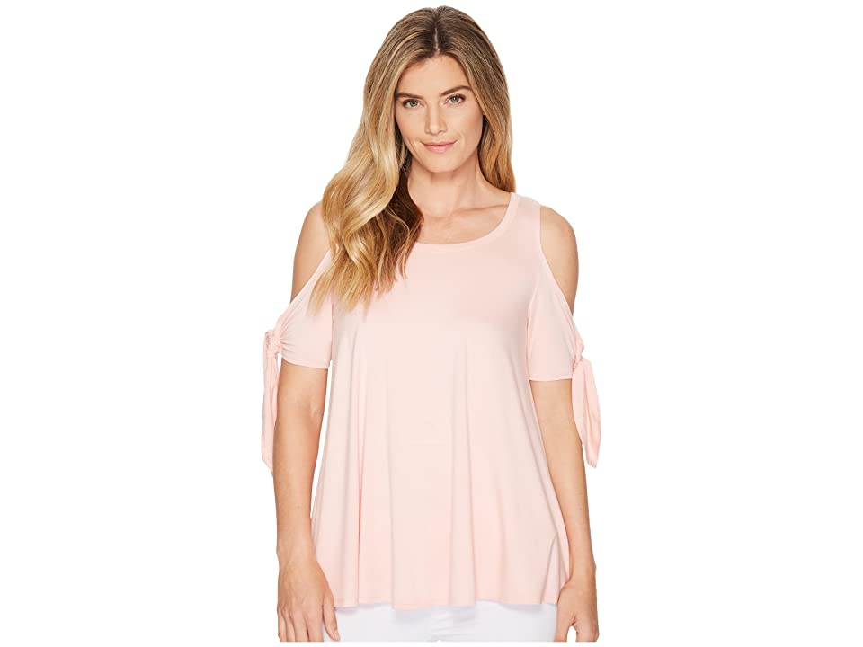 Karen Kane Cold Shoulder Knot Top (Rose) Women