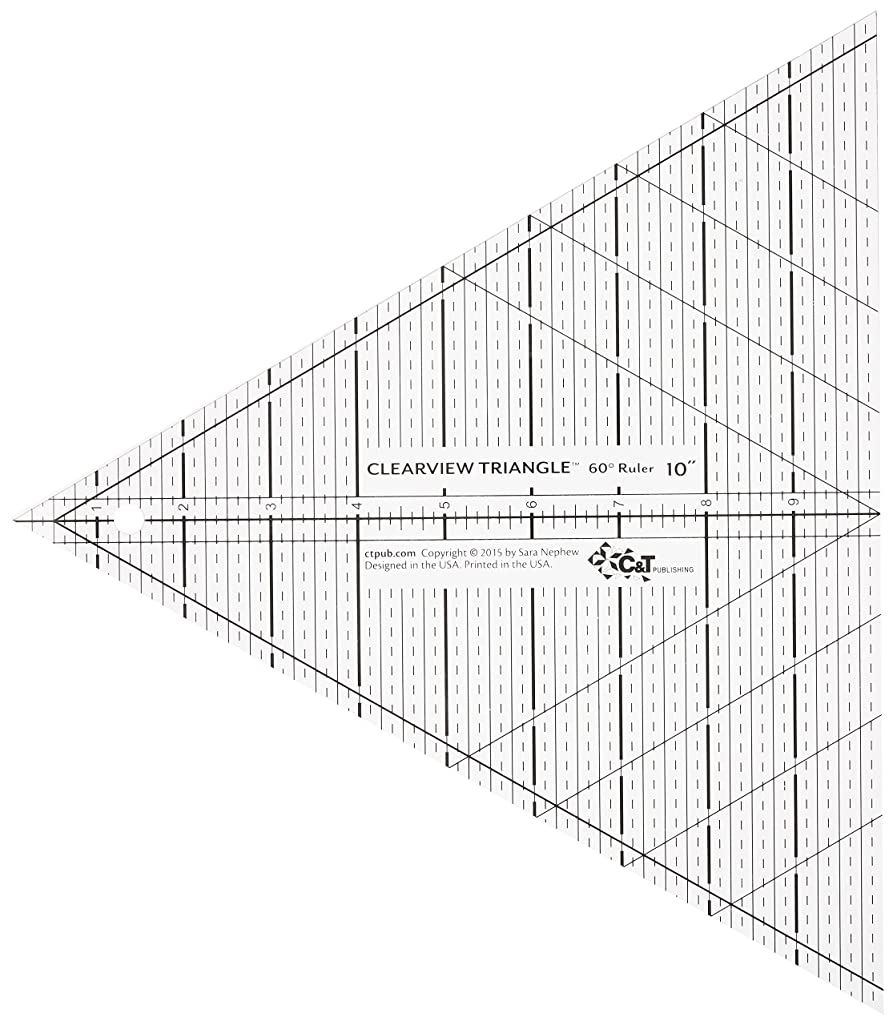 C&T PUBLISHING Clearview Triangle Ruler 60 Degree 10