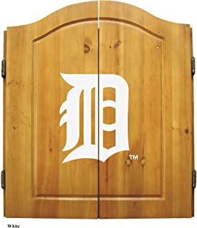 Imperial Officially Licensed MLB Dart Cabinet Set with Steel Tip Bristle Dartboard and Darts