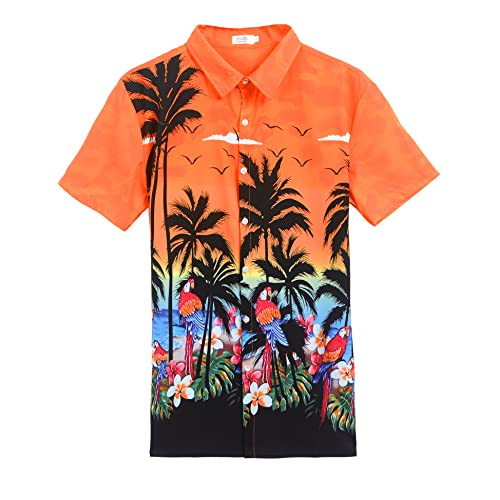 9253c4857b70 Husband or Wife Hawaiian Luau Outfit Aloha Shirt Tunic Slip On Dress