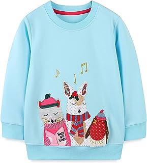 Baby Toddler Girl's Cotton Crewneck Sweatshirt Top...