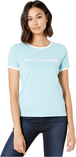 b26b2d07 New. Skyline. 7. Juicy Couture. Juicy Poolside Logo Track Ringer Tee