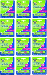 Banana Boat Spf#45 Lip Balm Sunscreen 0.15 Ounce (12 Pieces) Strip (4ml)