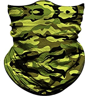 Obacle Face Mask Bandana for Sun UV Dust Wind Protection Seamless Bandana Rave Face Mask for Men Women Festival Fishing Hunting Motorcycle Riding Workout Outdoor Running Tube Mask Neck Gaiter