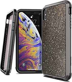 X-Doria Defense Lux Series, iPhone Xs Max Case - Military Grade Drop Tested, Anodized Aluminum, TPU, and Polycarbonate Protective Case for Apple iPhone Xs Max, 6.5 Inch Screen, (Dark Glitter)