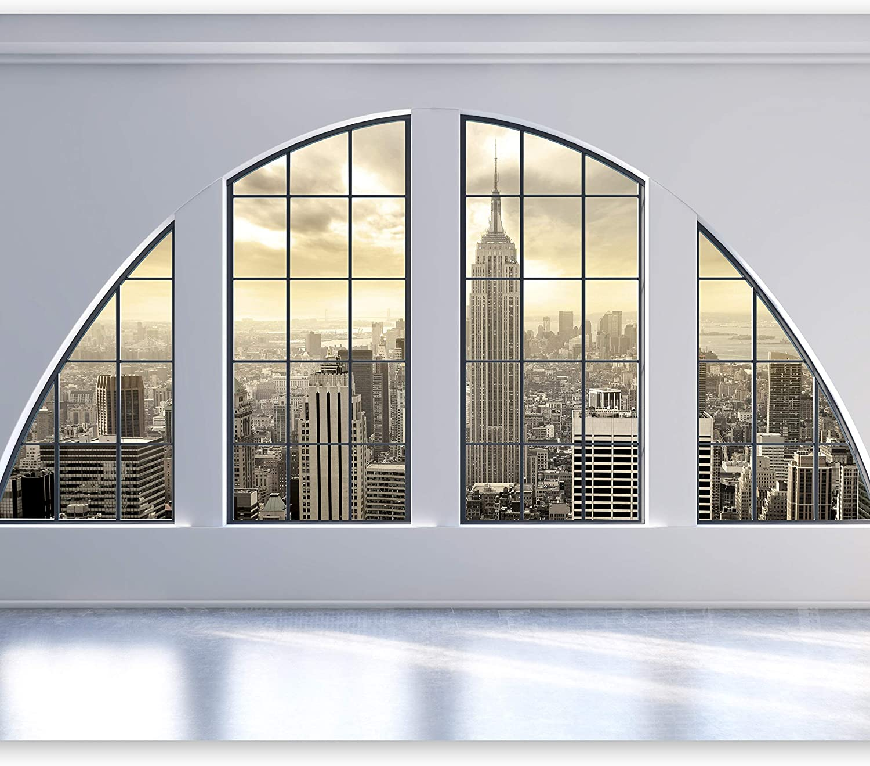 Murando - Fototapete 300x210 cm - Vlies Tapete - Moderne Wanddeko - Design Tapete - Wandtapete - Wand Dekoration - Fenster Stadt c-C-0002-a-a B0189D2OAI
