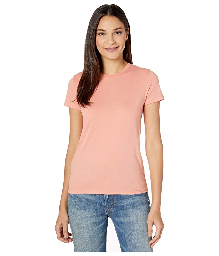 Vince  Essential Crew (Coral) Womens Clothing