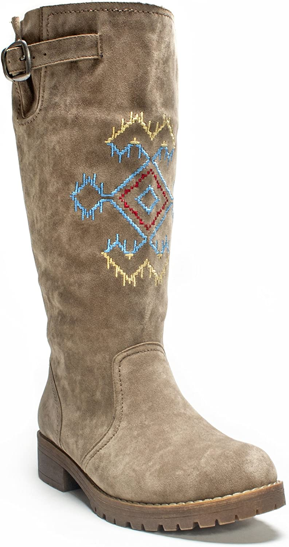 MUK LUKS Women's Barbie Snowflake Winter Boot
