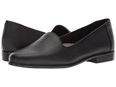 Trotters Liz Tumbled (Black Very Soft Leather) Women