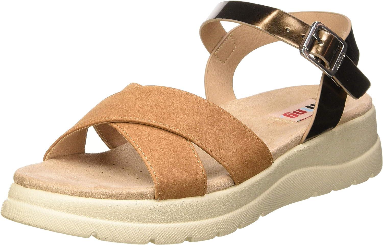 MTNG Women's 58975 ブランド激安セール会場 驚きの価格が実現 Platform Sandals Brown Metallic Br on Super