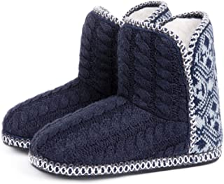 RockDove Women's Cheyenne Cable Knit Indoor Bootie Slipper