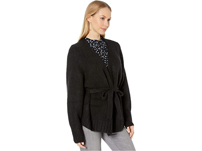 1.state Belted Jersey Stitch Cardigan Rich Black Sweers