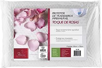 Capa de Travesseiro Impermeável Toque de Rosas com Zíper