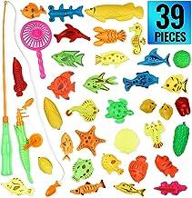 GOLDGE 42PCS Juguete de Pesca para Ni/ño Juguete de la Flotando Pesca Conjunto para Ni/ños Juguete Pesca de Diversion y Deportes al Aire Libre para Bebe