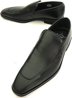 展示品 (ポールスチュアート) Paul Stuart ビジネス ヴァンプローファー スリッポン 素足履き 日本製 27cmEEE 黒/ブラック PS-3305
