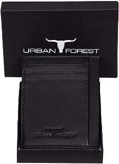 Urban Forest Chris RFID Blocking Black Leather Card Case for Men