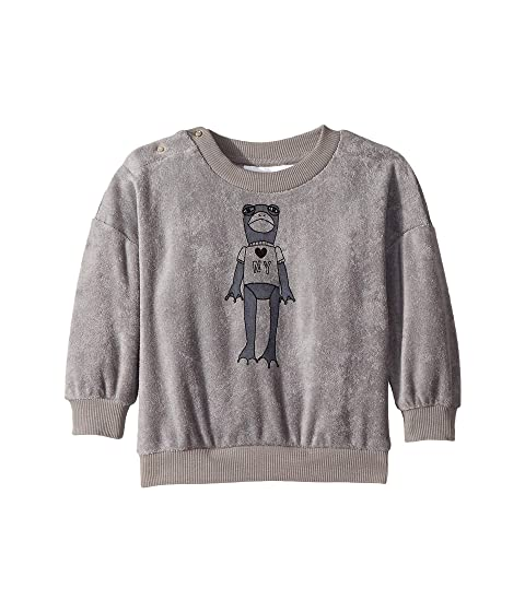 mini rodini Frog Terry Sweatshirt (Infant/Toddler/Little Kids/Big Kids)