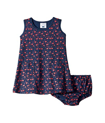 Toobydoo Pocket Play Dress (Infant/Toddler) (Flamingo Print) Girl