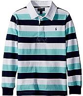 Polo Ralph Lauren Kids Striped Cotton Jersey Rugby (Little Kids/Big Kids)