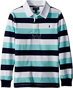 Polo Ralph Lauren Kids - Striped Cotton Jersey Rugby (Little Kids/Big Kids)