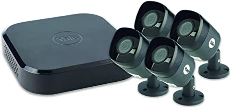 Yale SV-8C-4ABFX Smart Home CCTV Kit-HD1080, 4 Camera, 8 Channel, 2TB Harddrive, Black