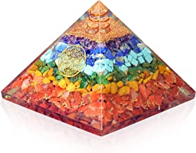 Orgonite crystal Seven chakra FOL pyramid