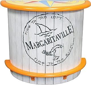 Margaritaville Indoor/Outdoor Half Moon Wood Bar - Fins to the Left