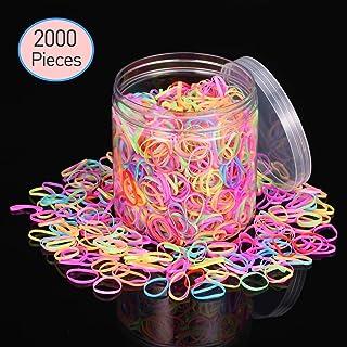 KWOKWEI meerkleurige elastische haarelastiekjes, kleurrijke elastieken haarelastiekjes, haarelastiekjes, haarelastiekjes, ...