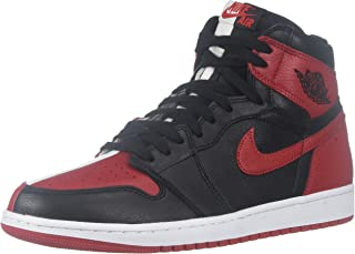 Mens Air Jordan 1 Retro High OG NRG HTH Black/University Red-White Leather