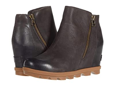 SOREL Joan of Arctic Wedge II Zip (Blackened Brown) Women
