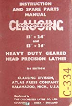 Best clausing colchester 13 lathe manual Reviews