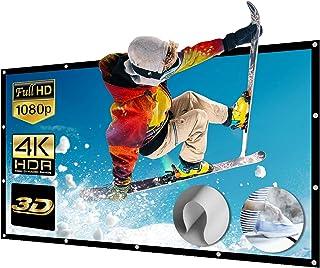 Projectorscherm 200 Inch 16: 9 Kreukvrij Draagbaar Projectorscherm Wasbaar Projectiescherm Full HD 3D 4K voor School Home ...