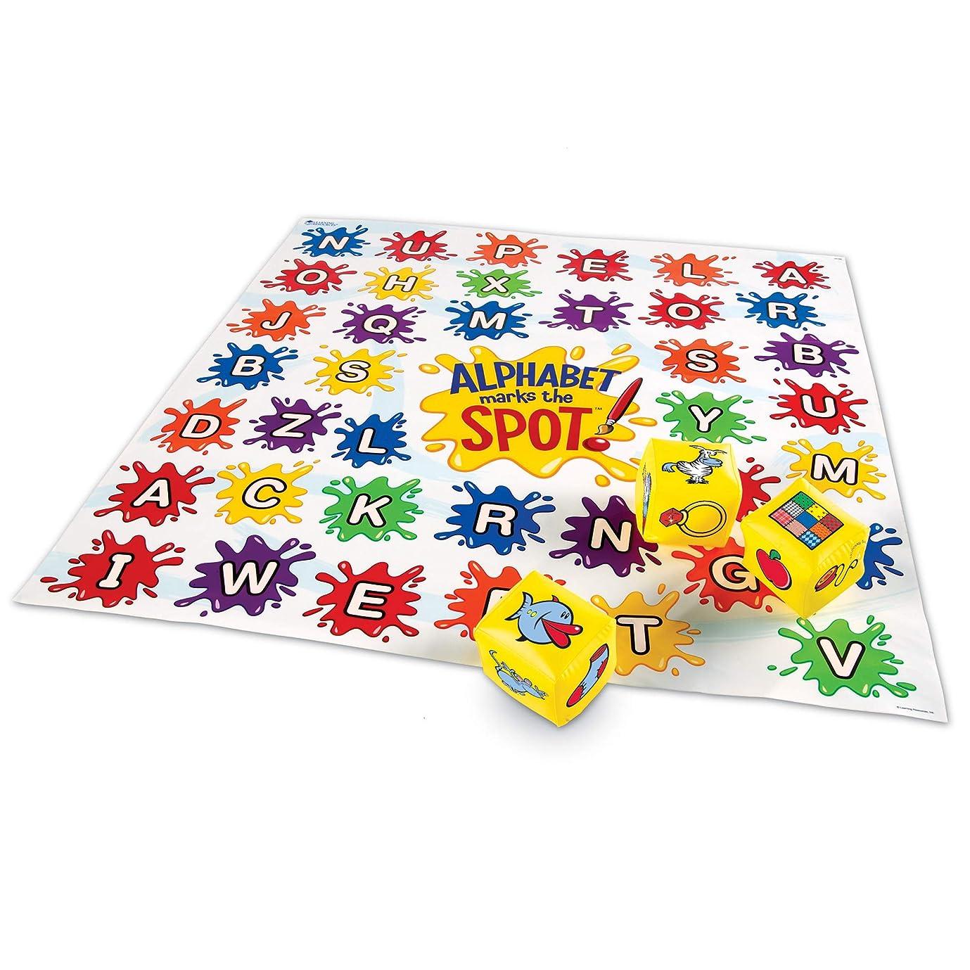 夫婦可動環境アルファベットマット ゲーム Alphabet Marks the Spot Game LER0394