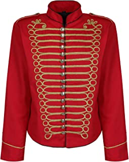 Men's Punk Officer Military Drummer Parade Jacket