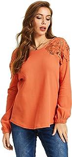SONJA BETRO Women's Lace Yoke Thermal Tunic