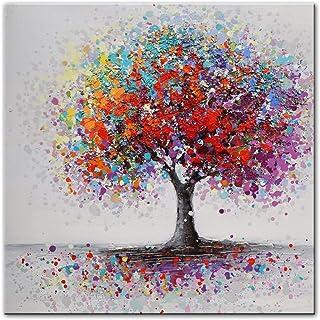 EXQART Tableau décoratif imprimé sur Toile Arbres Abstraits Paysage peintures à l'huile Impression sur Toile orful Art Imp...