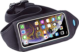 Tune Belt Running Waist Pack - Lightweight, No-Bounce, Water-Resistant Pouch fits iPhone 11 Pro, X Xs, Galaxy S8 S9 S10 S10e, Note 10 [Black]