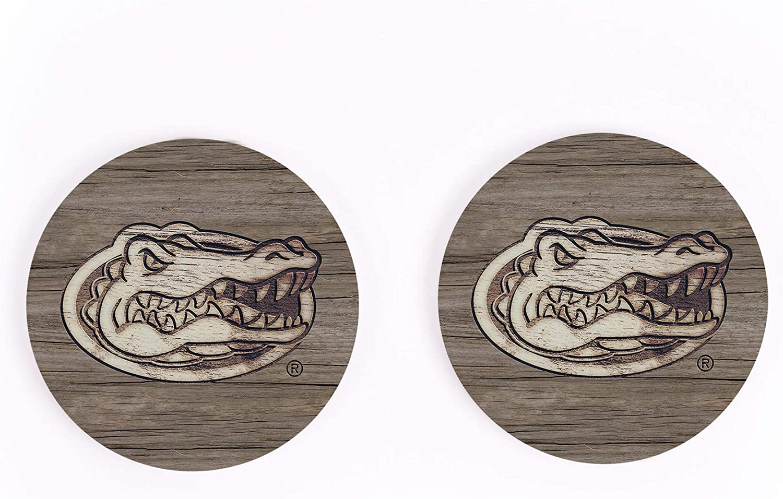 University of Florida Gators NCAA Team Logo 2.75 x 2.75 Absorbent Ceramic Car Coasters Pack of 2