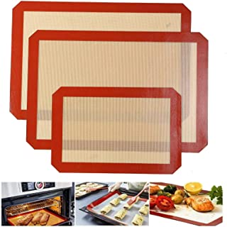 Quailitas Lot de 3 tapis de cuisson en silicone