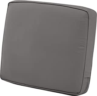 Classic Accessories Montlake Back Cushion Foam & Slip Cover, Light Charcoal, 25x22x4 Thick