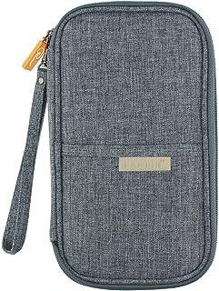 Travel Wallet Passport Holder, RFID Document Organizer Elegant Grey by XXMING