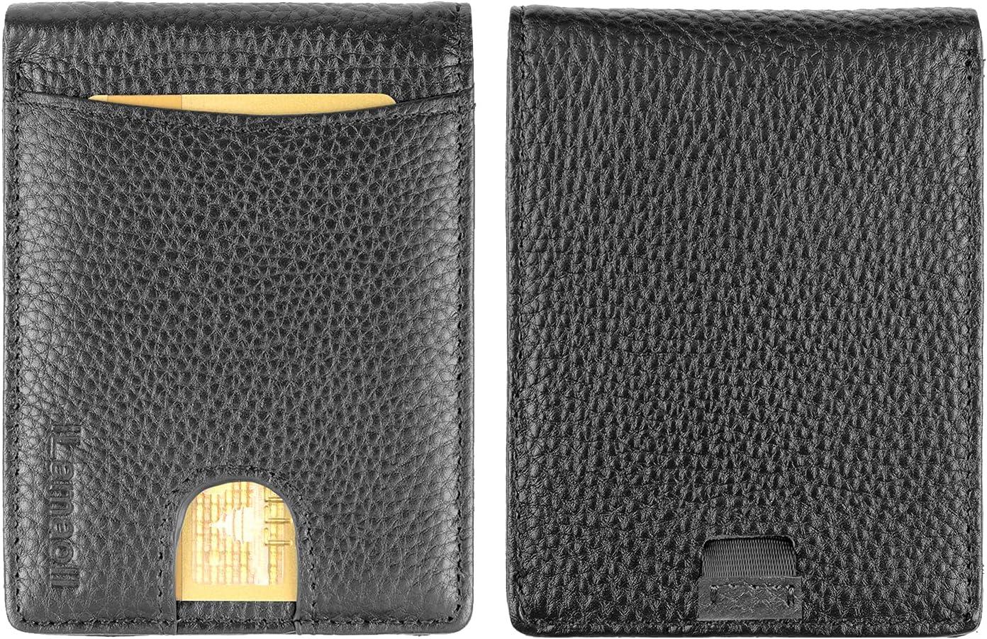 Front Pocket Wallets Money Pocket Thin Wallet for Men RFID Blocking Slim Bifold Leather Credit Card Holder for Women Walette Halloween